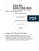 FRAUDES DE POKEMON FIRE RED