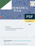 Clase 1 Matemática 5