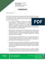 Comunicado de Prensa Funcionarios Contagiados COVID-19