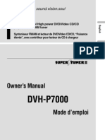Pioneer DVHP7000 Carrozzeria DVHP717 Manual