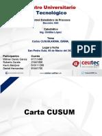 Presentacion Grupal Cartas CUSUM,ARIMA, EWMA-Control estadistico de procesos, revisada