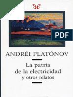 Platonov, Andrei - La patria de la electricidad y otros relatos [35403] (r1.1)