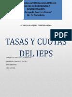 TASAS O CUOTAS DEL IEPS