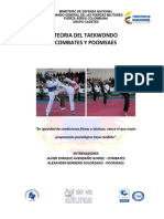 TEORIA TAEKWONDO COMBATES Y POOMSAES