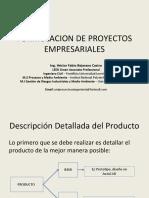 Formulacion de proyectos empresariales 2019