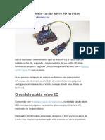 Como usar módulo cartão micro SD Arduino
