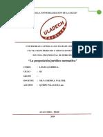 La proposición jurídico normativa