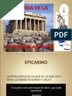 1.-HISTORIA DE LA FILOSOFÍA ANTIGÜA