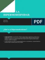 ÉTICA EN LA HIPERMODERNIDAD