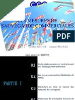 Mesures de sauvegarde commerciales