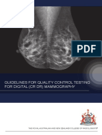 Guidelines for Quality Control Testing for Digital (CR  DR) Mammography Version 3 0