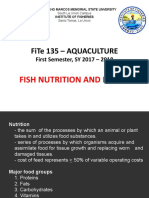 Aqua Lect 7 - Fish nutrition and feeding