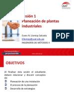 1 Sesion IM II Introducción. Planeación de plantas industriales NEW