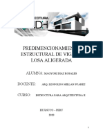 PREDIMENCIONAMIENTO ESTRUCTURAL DE VIGAS Y LOSA ALIGERADA.docx