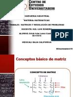 matrices y resolución de problemas