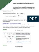 5 Multiplicación y Divisón en Notación Científica