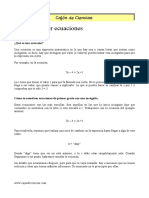 6.1 Como resolver ecuaciones