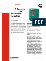 OTPC Transfer Switch Open and Closed Transition