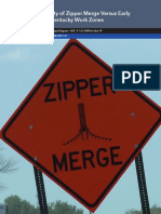 Applicability of Zipper Merge Versus Early Merge in Kentucky Workh