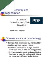 Biomass energy and cogeneration