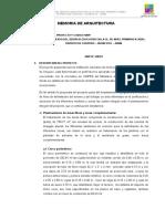 MEMORIA DE ARQUITECTURA