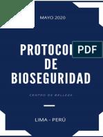 1. PROTOCOLO BIOSEGURIDAD  BELLEZA