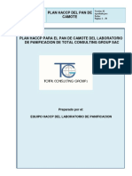 PLAN HACCP PAN DE CAMOTE