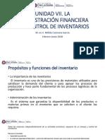 UNIDAD VII. LA ADMINISTRACIÓN FINANCIERA DEL CONTROL DE INVENTARIOS