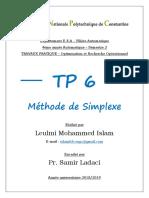 TP6 OPT LEULMI