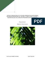 ESTUDIO POBLACIONAL DE LA PALMA CAMEDOR EN CUATRO ÁREAS NATURALES PROTEGIDAS