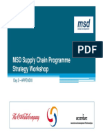 MSD Supply Chain Programme Strategy Workshop