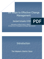 Six Step to Change Management