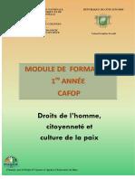 DROITS DE L'HOMME CITOYENNETÉ ET CULTURE DE LA PAIX.Août 2018