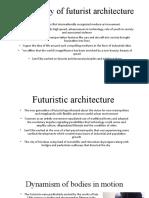 A century of futurist architecture