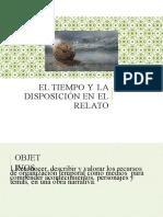 3 medio EL TIEMPO y la disposicion en el relato