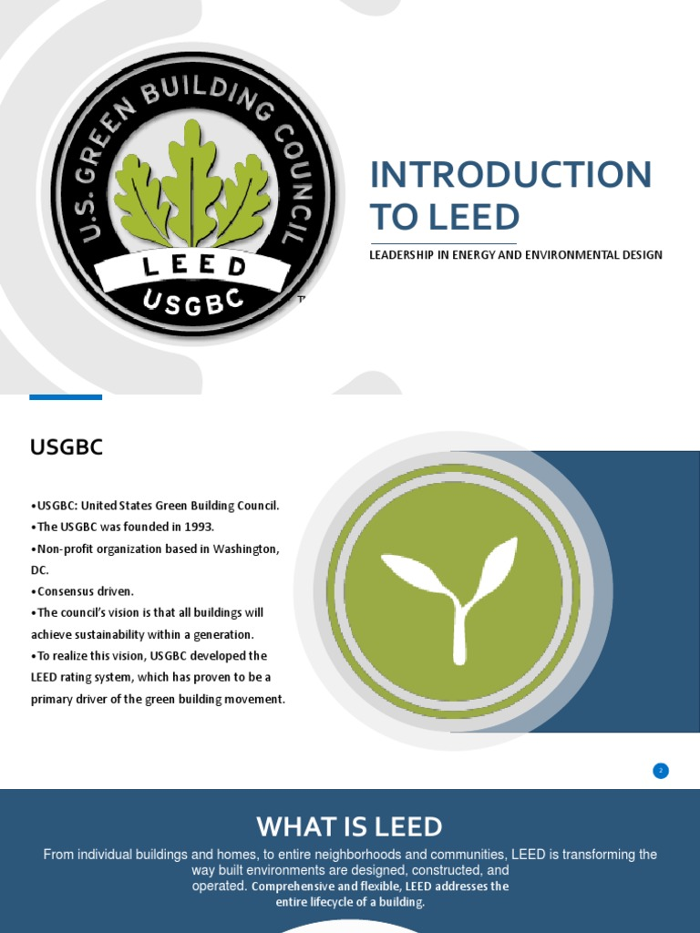 Introduction To Leed Pdf Leadership In Energy And Environmental Design Green Building