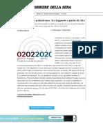 02.02.2020 data palindroma. Tra leggende e giochi di cifre - Corriere.it