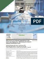 Faktor Risiko Apendisitis Perforasi Pada Era Pembedahan Akut
