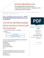 130 TOP DC MOTORS Multiple Choice Questions Answers pdf free Download D.C.MO