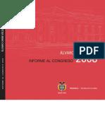 Informe Presidente al Congreso de la República 2008