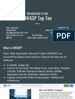2020-02-09 - Introduction to the OWASP Top Ten