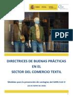 Directrices de buenas prácticas en el Sector del Comercio Textil 26.05.20