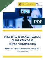 Directrices de buenas prácticas en Servicios de prensa y comunicación 26.05.20