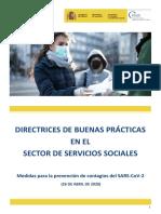 Directrices de buenas prácticas en el Sector Servicios Sociales 26.04.20