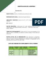 Informe Confecciones SA