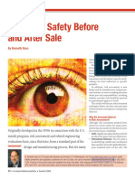 Analyzing safety before and after sale