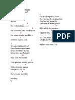 Um coco pra Cervantes - Letra e Cifra