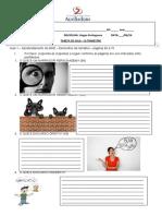 exercícios exercícios sobre elementos da narrativa 6 ano 14 e 15 de jun