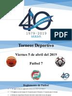 Presentacion para los equipos deportivos  40 aniv.pptx