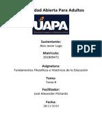 FUNDAMENTOS FILOSOFICOS DE JAVIER 8 - HECHA